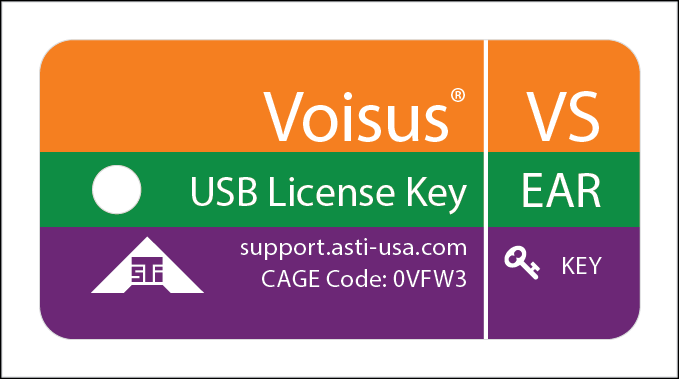 USB License Key ID Tag for Voisus